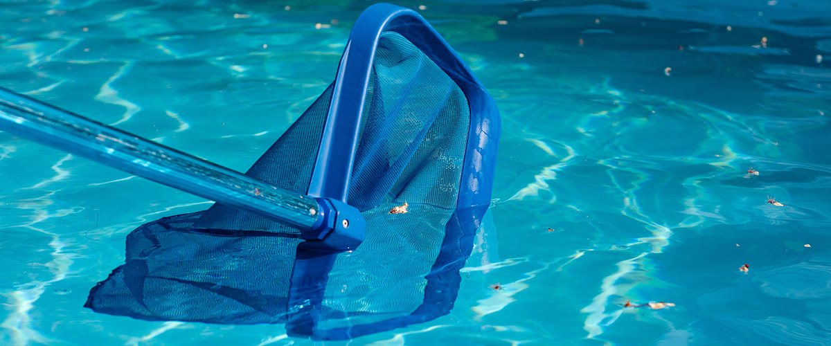 Pool net cleaner close up